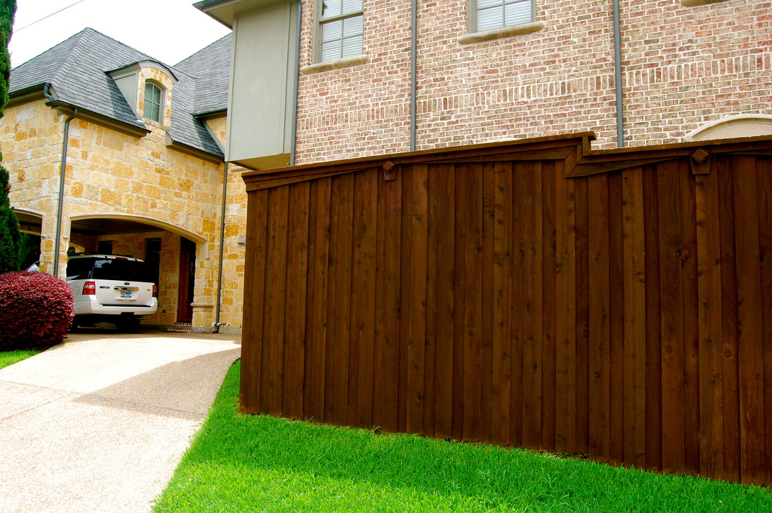 fence stain example 75214 area of north dallas lakewood area