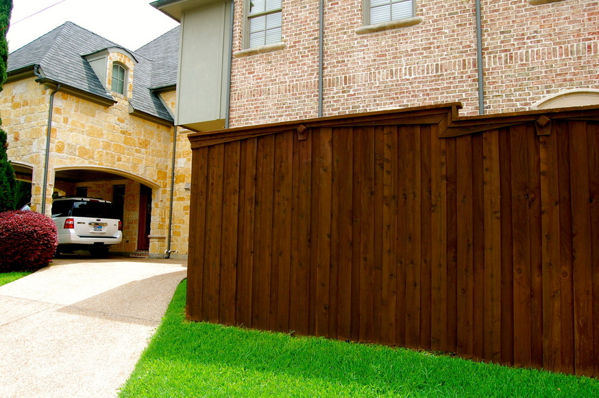 north dallas fence newly stained
